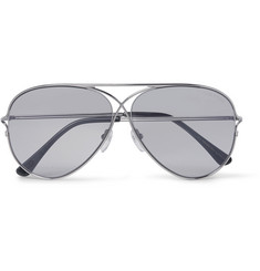 Tom Ford Aviator-Style Silver-Tone Photochromic Sunglasses