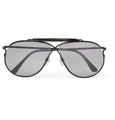 Tom Ford - Private Collection Aviator-Style Horn-Trimmed Titanium Photochromic Sunglasses
