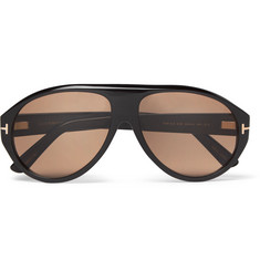 TOM FORD - Private Collection Aviator-Style Horn Sunglasses