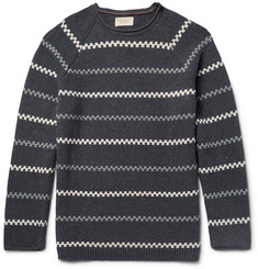 Nudie Jeans Vladimir Striped Cotton-Blend Sweater