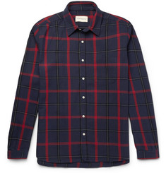 Oliver Spencer Checked Cotton-Twill Shirt