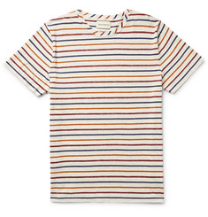 Oliver Spencer Slim-Fit Striped Mélange Cotton-Jersey T-Shirt
