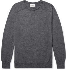 Oliver Spencer Blade Slim-Fit Mélange Merino Wool Sweater