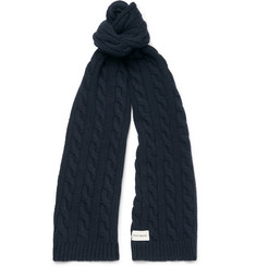 Oliver Spencer - Cable-Knit Wool-Blend Scarf