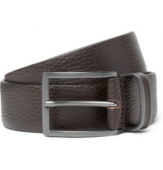 Hugo Boss 3.5cm Brown Sopprin Full-Grain Leather Belt