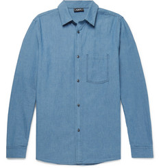 A.P.C. Slim-Fit Washed-Denim Shirt
