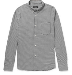 A.P.C. Slim-Fit Button-Down Collar Gingham Cotton Shirt