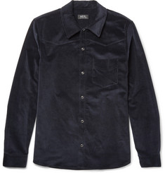A.P.C. Slim-Fit Stretch-Cotton Corduroy Western Shirt