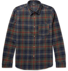 A.P.C. Slim-Fit Plaid Wool-Blend Shirt