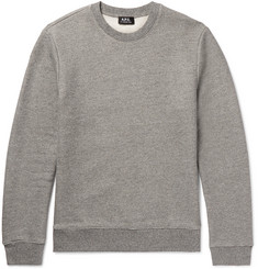 A.P.C. - Loopback Stretch Cotton-Blend Jersey Sweatshirt