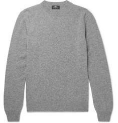 A.P.C. Mélange Wool and Cashmere-Blend Sweater