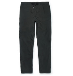 Folk Slim-Fit Tapered Cotton-Blend Drawstring Trousers