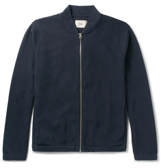 Folk Cotton-Blend Piqué Bomber Jacket