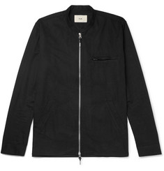 Folk Cotton-Twill Zip-Up Shirt