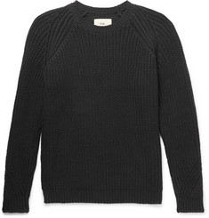 Folk Ribbed Stretch-Cotton Sweater