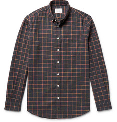 Steven Alan - Masters Button-Down Collar Checked Brushed-Cotton Shirt
