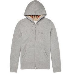 Burberry - Slim-Fit Cotton-Blend Jersey Zip-Up Hoodie