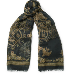 Alexander McQueen Printed Silk and Modal-Blend Scarf