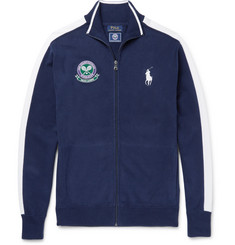 Polo Ralph Lauren Wimbledon Slim-Fit Cotton-Jersey Zip-Up Sweatshirt