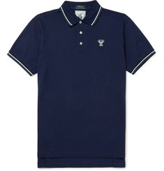 Polo Ralph Lauren Wimbledon Slim-Fit Striped Stretch-Cotton Piqué Polo Shirt