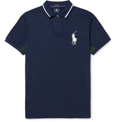 Polo Ralph Lauren Wimbledon Slim-Fit Cotton-Blend Piqué Polo Shirt