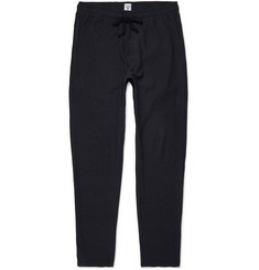 Schiesser Anton Slim-Fit Tapered Washed Cotton and Linen-Blend Jersey Sweatpants