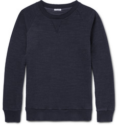 Blue Blue Japan - Indigo-Dyed Loopback Cotton-Jersey Sweatshirt