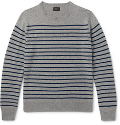 J.Crew Striped Cashmere Sweater