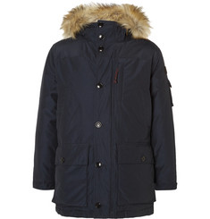 J.Crew Nordic Faux Fur-Trimmed Shell Down Parka