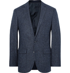 J.Crew Blue Ludlow Slim-Fit Herringbone Wool and Cotton-Blend Blazer