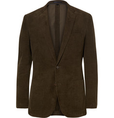 J.Crew Green Ludlow Slim-Fit Cotton-Corduroy Blazer