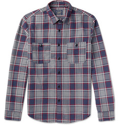 J.Crew Slim-Fit Checked Cotton-Flannel Shirt