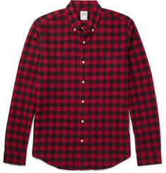 J.Crew Slim-Fit Button-Down Collar Checked Cotton Shirt