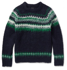 J.Crew Fair Isle Brushed Alpaca-Blend Sweater