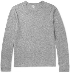 J.Crew Mélange Cotton-Jersey Long-Sleeve T-Shirt