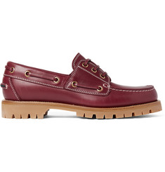 Gucci Leather Boat Shoes