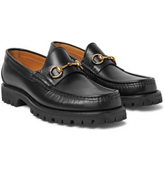 Gucci - Horsebit Lug-Soled Leather Loafers