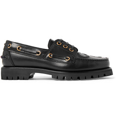 Gucci Embossed Leather Boat Shoes