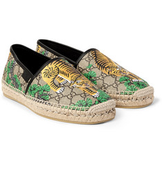 Gucci - Leather-Trimmed Printed Coated-Canvas Espadrilles