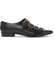 Gucci Quebec Leather Monk Strap Shoes