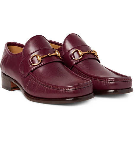 gucci male gucci horsebit leather loafers burgundy