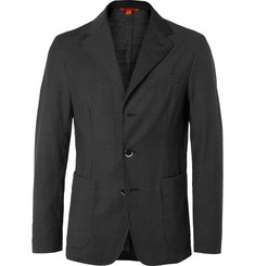 Barena Grey Slim-Fit Unstructured Pin-Dot Virgin Wool Suit Jacket