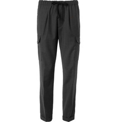 Barena Grey Tapered Pin-Dot Virgin Wool Suit Trousers