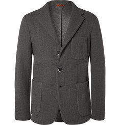 Barena Grey Unstructured Neoprene Blazer