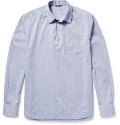 Barena Half-Placket Cotton-Jacquard Shirt