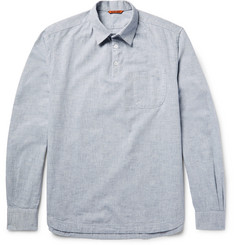 Barena Half-Placket Slub Cotton-Chambray Shirt