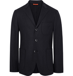 Barena Navy Slanegà Unstructured Wool-Blend Blazer