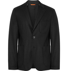 Barena Black Slanegà Unstructured Wool-Blend Blazer