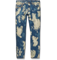 Gucci - Slim-Fit Studded Acid-Washed Denim Jeans