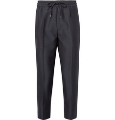 Gucci - Tapered Cropped Drawstring Wool and Mohair-Blend Trousers